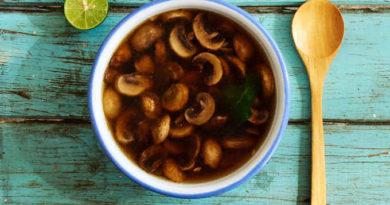 Легкий грибной суп по-мексикански