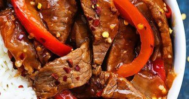 Острая говядина с перцем
