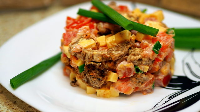 Салат турбо