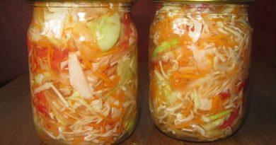 Простой и очень вкусный салат на зиму «Гениальный»
