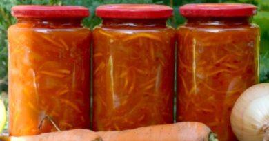 Морковный салат с болгарским перцем