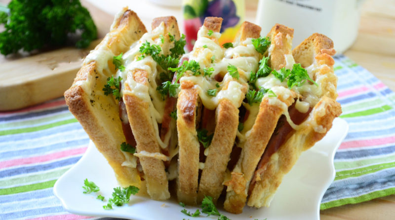 Гармошка из бутербродов
