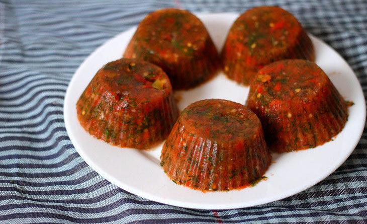 Томатный соус из помидоров и сладкого перца