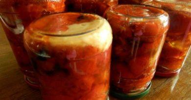 Консервируем запеченные помидоры