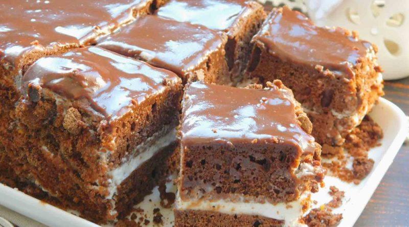 Домашний шоколадный торт (без пропитки)