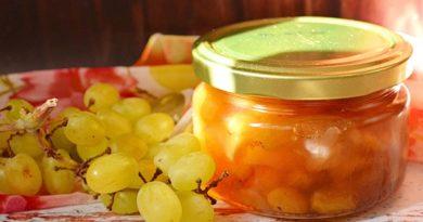 Варенье из яблок и винограда