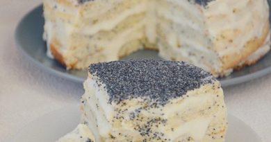 Невероятный маковый тортик