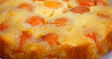 Аппетитный пирог с абрикосами