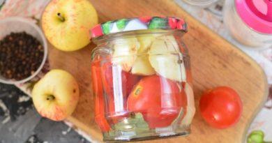 Сладкие помидоры с яблоками на зиму