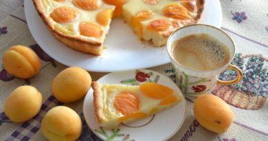 Цветаевский пирог с абрикосами