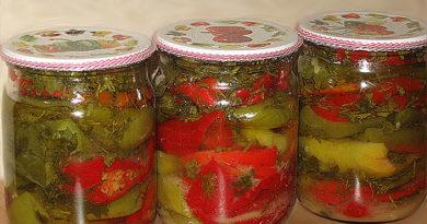 Перец, консервированный с овощами