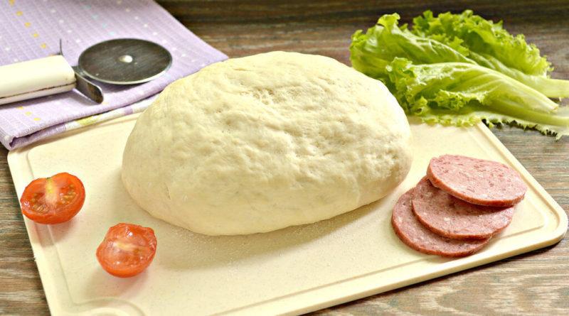 Тесто для пиццы с сухими дрожжами