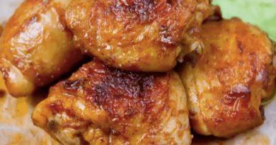 Куриные бедра, жареные со вкусом шашлыка