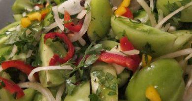 Закуска из овощей с зеленью