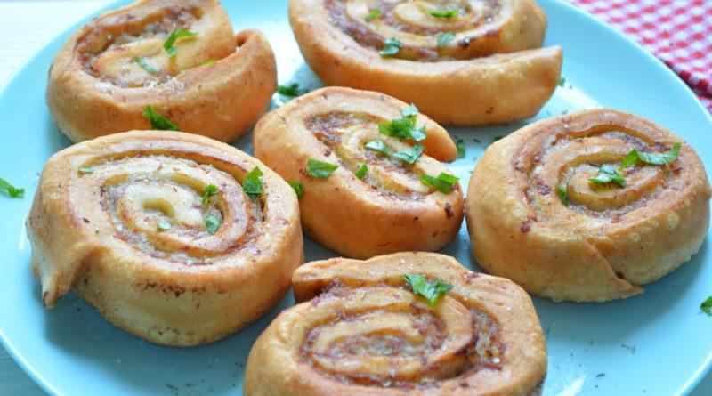 Пирожки-рулетики с фаршем