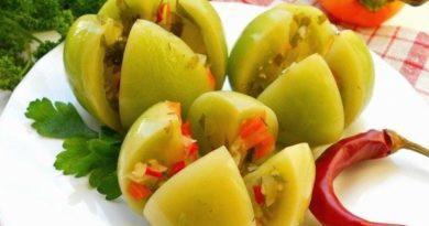Квашенные острые зеленые помидоры