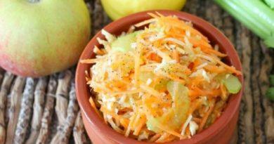 Салат с морковью, сельдереем и сыром