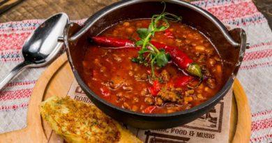 Вкусный суп с фаршем и фасолью