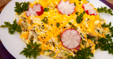 Салат «Весенний день»: легкий, быстрый и вкусный