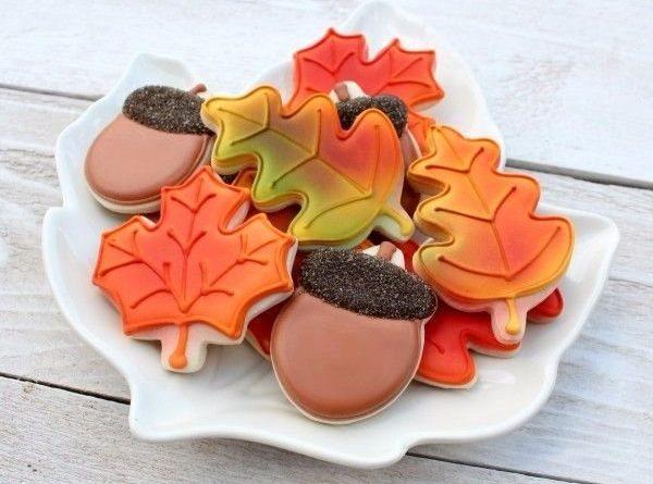 """Печенье с сахарной глазурью """"Осеннее настроение"""""""