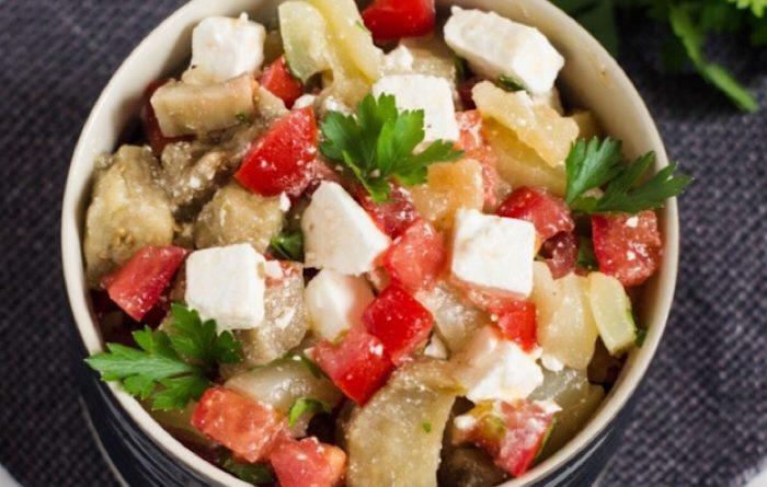 Бесподобный салат с баклажанами и фетой