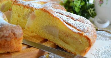 Бретонский пирог с грушами