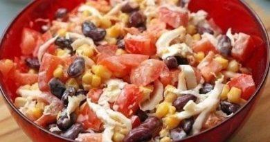 Пикантный салат из свежих овощей