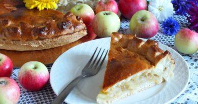 Татарский пирог с яблоками