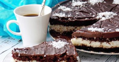 Кокосовый торт с нежным бисквитом
