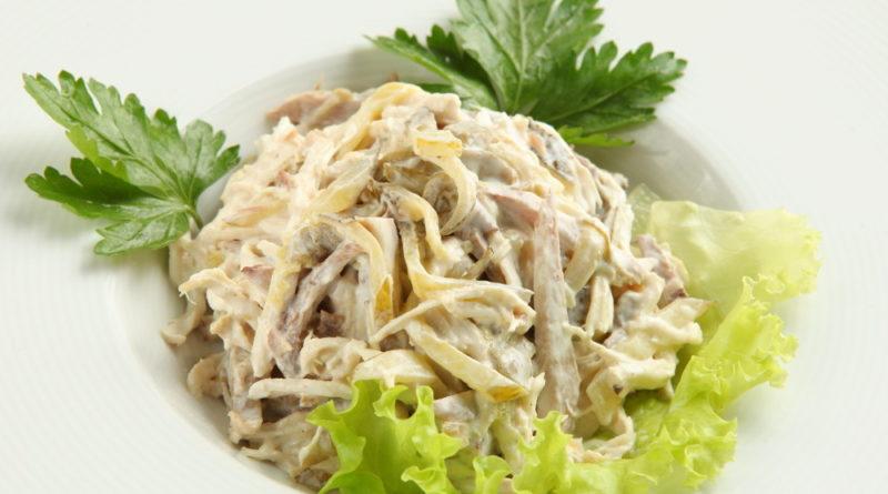 Восхитительный салат с говядиной и яблоком «Искушение»