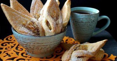 Ароматное яблочное печенье