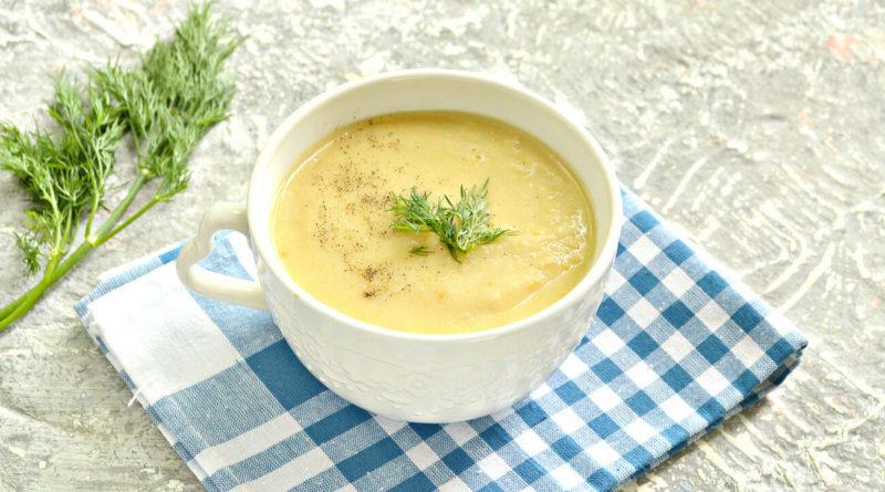 Гороховый суп-пюре на мясном бульоне