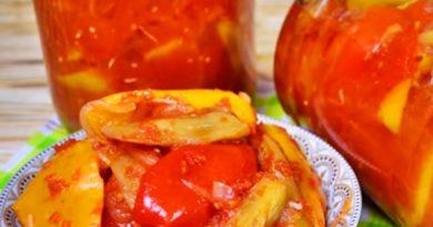 Лечо из болгарского перца с баклажанами: фантастическая закуска на зиму