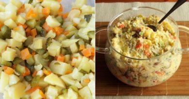 Очень вкусный салатик из картофеля и огурцов