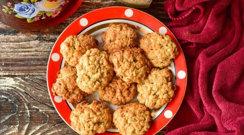 Соленое овсяное печенье