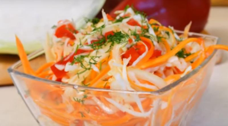 Салат «Кубанский» — готовим из капусты