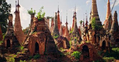 Затерянная деревня храмов в джунглях Мьянмы для любителей захватывающих путешествий