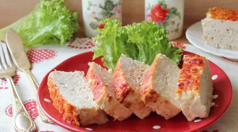 Мясной хлеб из куриного филе