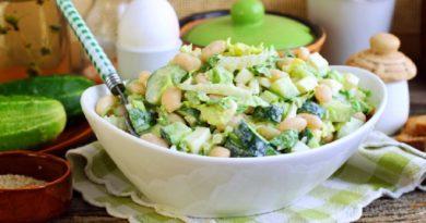 Сочный салат «Нур» с капустой