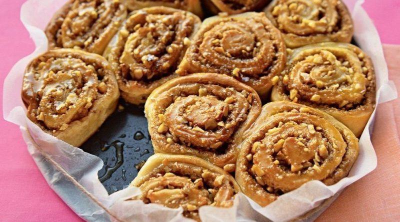 Творожные булочки с орехами к чаю