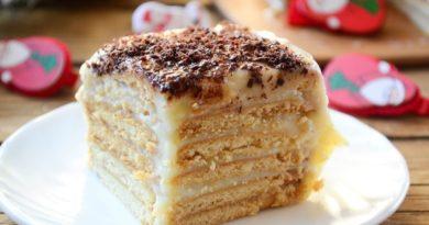 Торт из печенья с заварным кремом