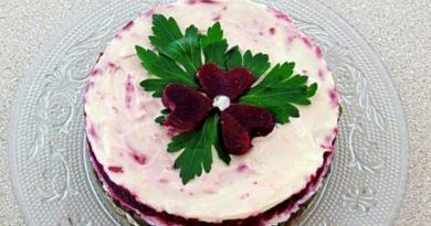 Очень красивый и вкусный салатик «Радушие»