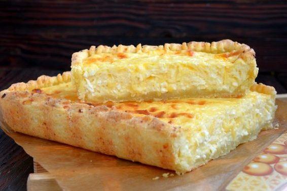 Творожный тарт с творожно-сырной начинкой