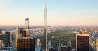 В Нью-Йорке возведен тончайший небоскреб на планете