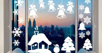 Чем украсить окна к новому году?