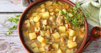 Осенний суп из боровиков