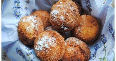 Творожные пончики с кокосом и шоколадом