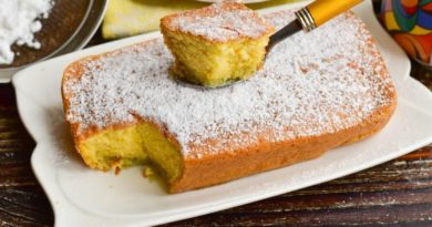 Лимонный кекс-суфле