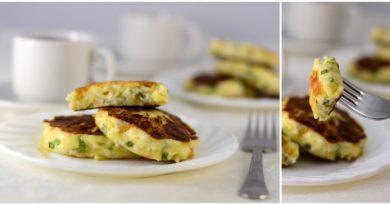 Несладкие сырники с сыром и зеленым луком