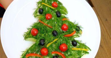 Новогодний салат ёлочка